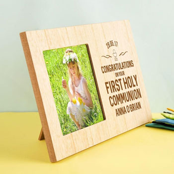 Personalised First Holy Communion Wooden Photo Frame