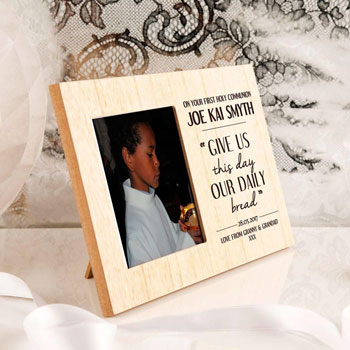 Engraved Daily Bread Wooden Communion Frame