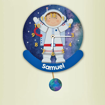 Personalised Astronaut Pendulum Wall Clock