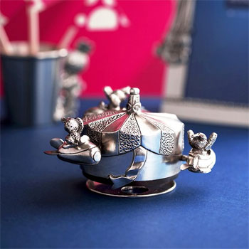 Bunnies Day Out Jet Rocket Music Carousel by Royal Selangor