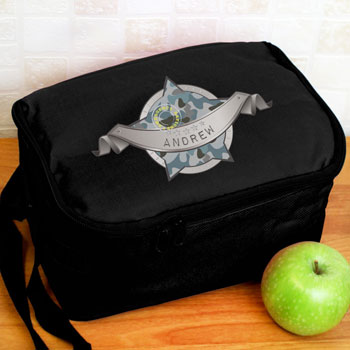 Boy's Personalised Army Camo Black Lunch Sandwich Bag