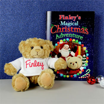 Personalised Magical Christmas Book and Personalised Teddy