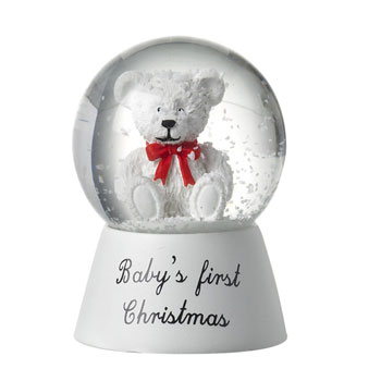 First Christmas Snow Globe