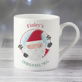 Personalised Christmas Balmoral Bone China Children's Mug