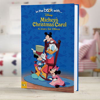 Personalised Disney Mickey's Christmas Carol Book