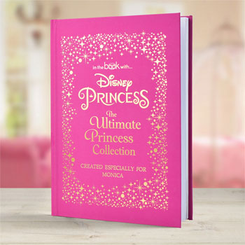Girl's Personalised Disney Princess Hard Back Book