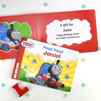 Personalised Thomas and Friends Peep Peep Board Book
