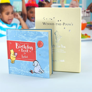 Personalised Winnie the Pooh Hard Back Birthday Book