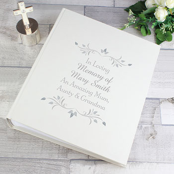 Personalised Memorial Remembrance Photo Album with Sleeves