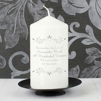 Personalised Sentiments Memorial or Remembrance Candle