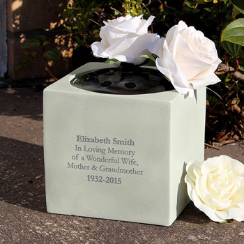 Personalised Memorial Graveside Remembrance Vase