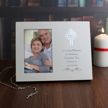 Personalised Cross Sentiments 4x6 Inch Light Up Frame