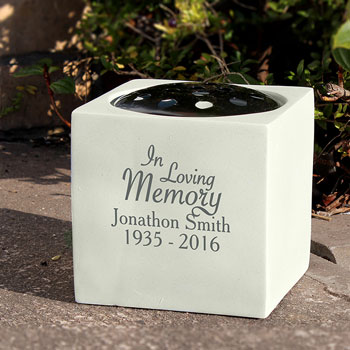 Personalised In Loving Memory Memorial Graveside Vase