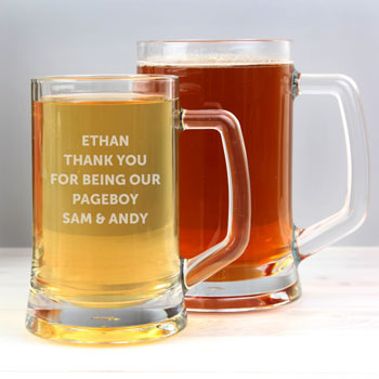 Personalised Page Boy Tankard