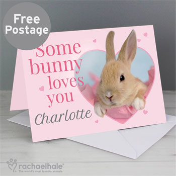 Personalised Rachael Hale Some Bunny Easter Card