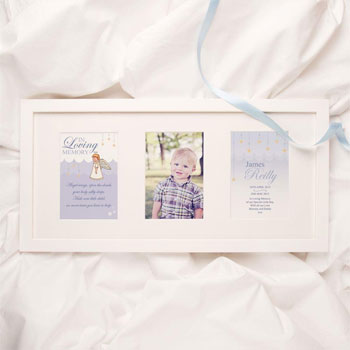 Personalised Baby and Child Boys Memorial Print Photo Frame