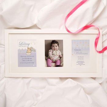 Personalised Baby and Child Girls Memorial Print Photo Frame