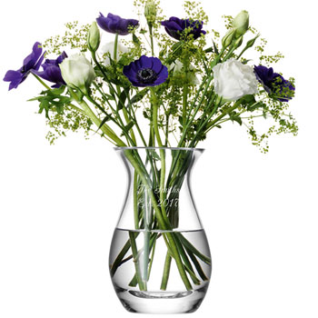Personalised Posy Vase by LSA International Glasswear