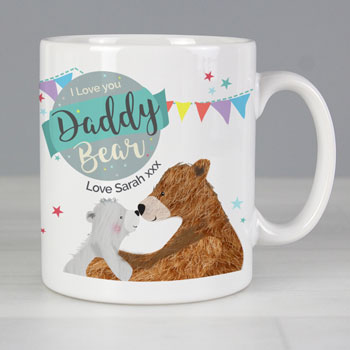 Personalised Daddy Bear Ceramic Mug Father's Day Daddy Gift