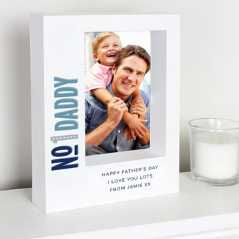 Personalised Number 1 Daddy Box Photo Frame 5 x 7 Inch