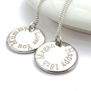 Personalised Stainless Steel Edge Necklace