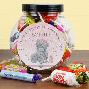 Personalised Me To You Girls Wedding Sweet Jar Thank You