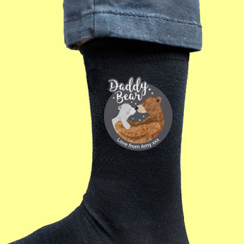 Personalised Daddy Bear Mens Socks