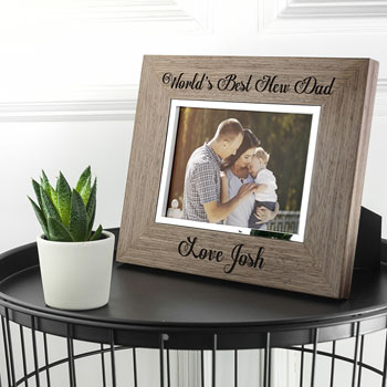 Personalised World's Best New Dad Wooden Frame