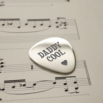 Personalised Cool Daddy Polished Steel Plectrum