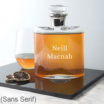 Personalised Platinum Necked LSA International Decanter