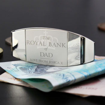 Personalised Royal Bank Of Money Clip