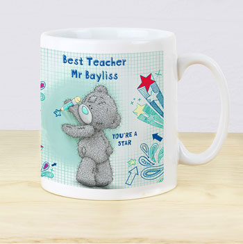 Personalised Me To You Blue Tatty Teddy Teacher Gift Mug