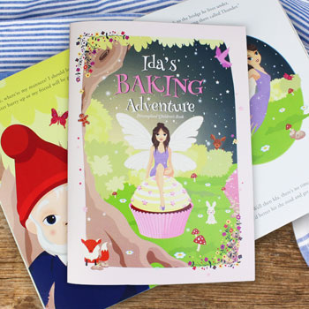 Girl's Personalised Fairy Baking Adventure Cook Book