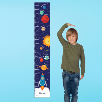 Toddler's Personalised Solar System Height Growth Chart