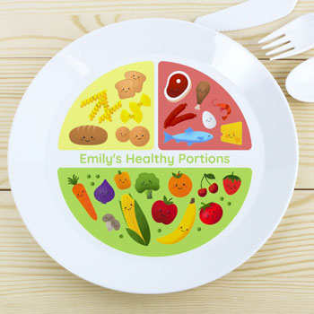 Personalised Healthy Eating Portions Toddler's Plastic Plate