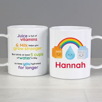 Personalised Healthy Eating Toddler's Drop-Proof Plastic Mug