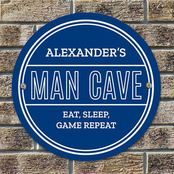 Personalised Man Cave Heritage Blue Plaque Men's Gift Idea