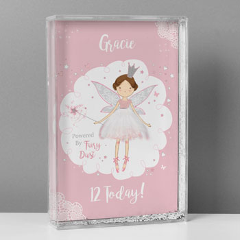 Girl's Personalised Fairy Princess Glitter Shaker Keepsake
