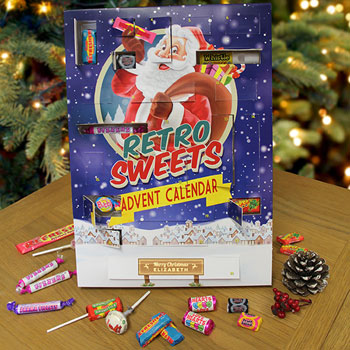 Large Personalised Retro Sweets Advent Calendar