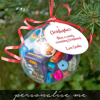 Giant Personalised Christmas Sweetie Bauble