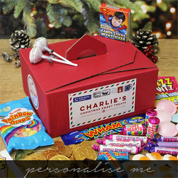 Children's Personalised Assorted Santa's Sweet Gift Box