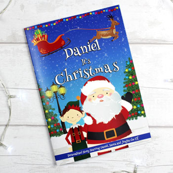 Personalised Boy's It's Christmas Story Book Stocking Filler