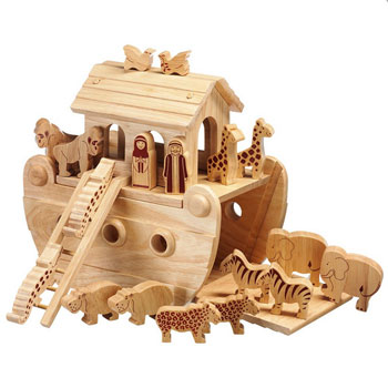 Fair Trade Junior Natural Wooden Noah's Ark Playset