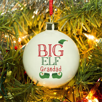 Personalised Big Elf Bauble