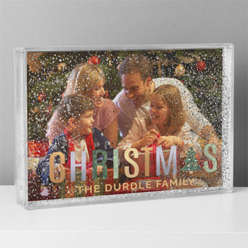 Personalised Christmas 6x4 inch Glitter Shaker Photo Frame