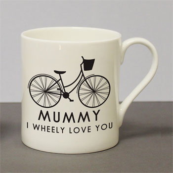 Personalised I Wheely Love You Female Bike Balmoral Mug