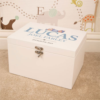Personalised Keepsake Box for Baby Boy