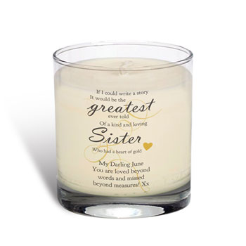 Memorial Greatest Story Personalised Rose Scented Candle