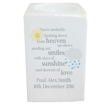 Showers of Love Personalised Memorial Tealight Holder
