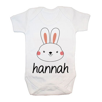Personalised Little Bunny Cotton Baby Grow